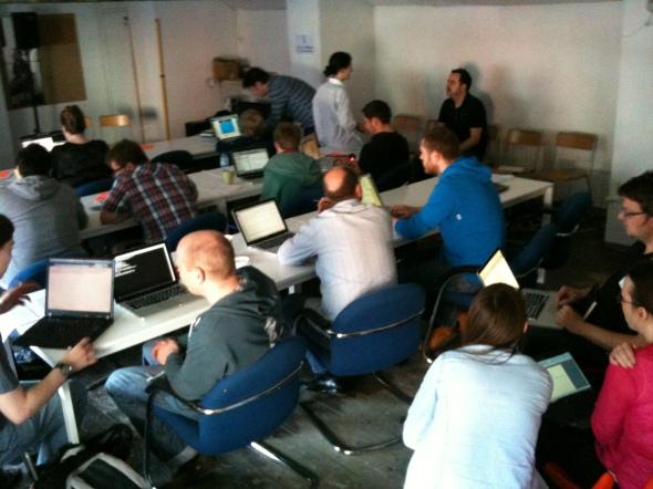 Attendees at the Lovely Data Transport Hack Day